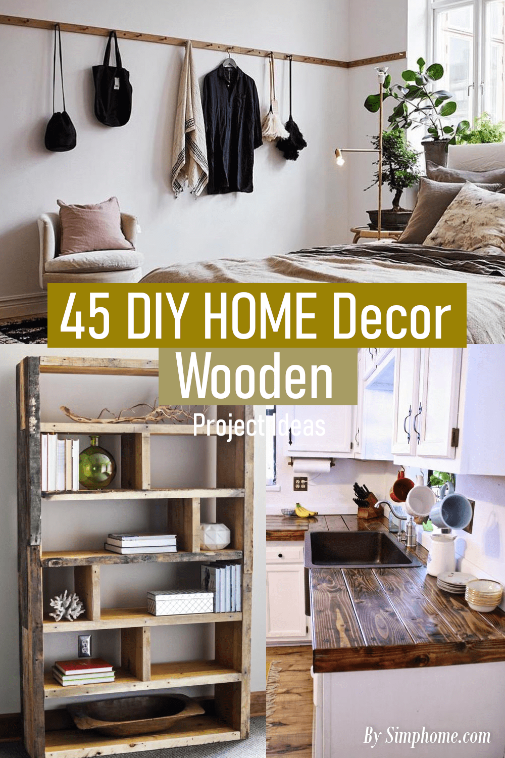 45 DIY Home Decor Wooden Projects via Simphome.com ..Featured