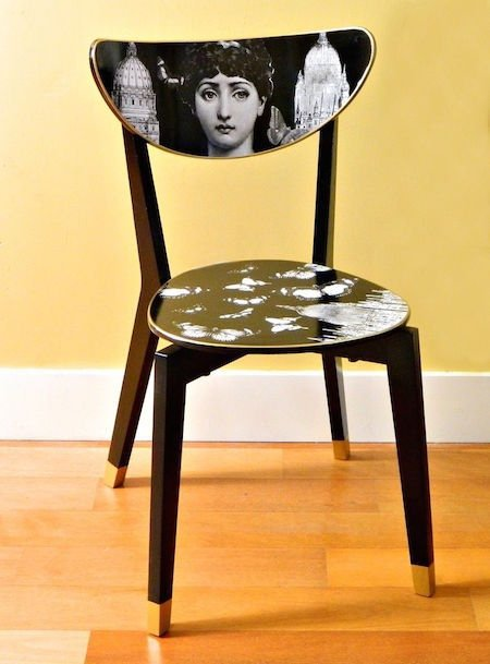 16 IKEA Dining Chair hack Into a Fornasetti Work of Art 450x609 Simphome com