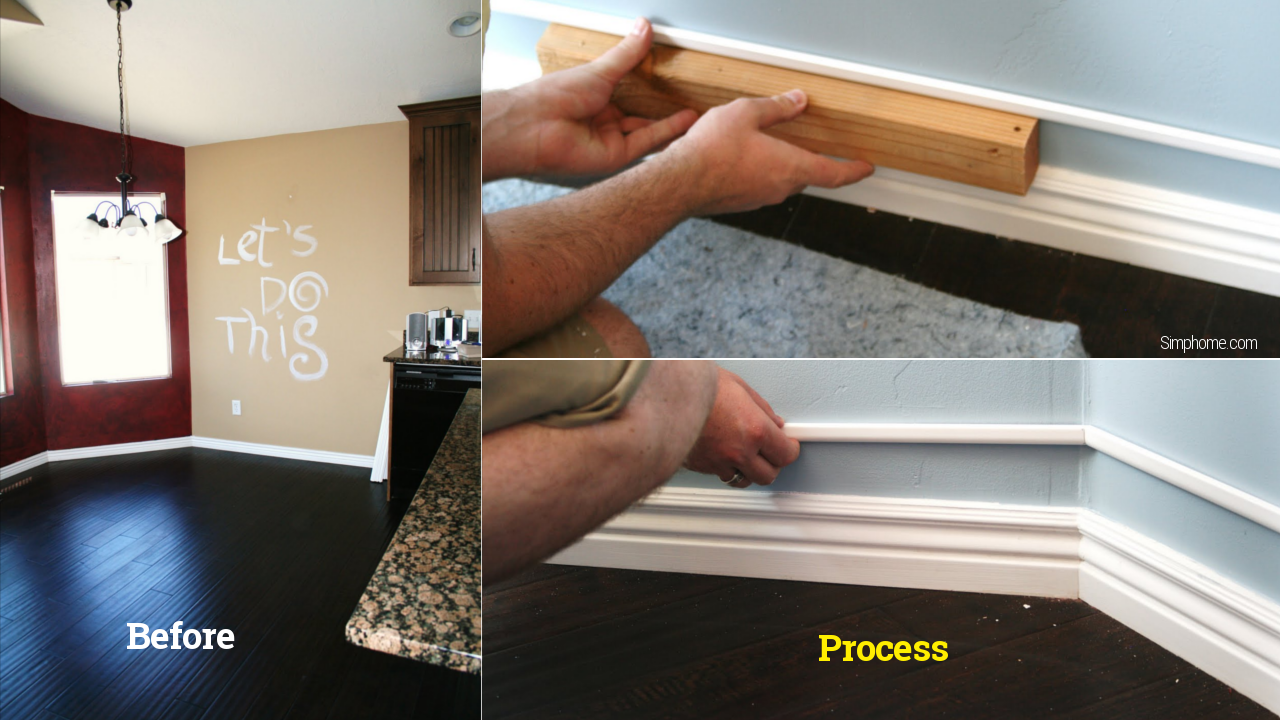 Create thick baseboards Simphome com