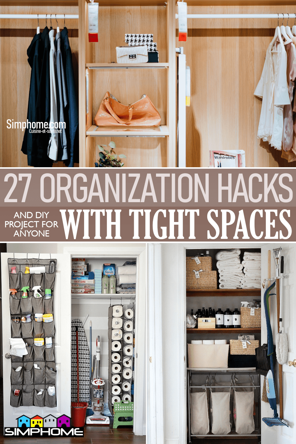 27 Organization Hacks for Small Space You Need To Know via Simphome.comFeatured