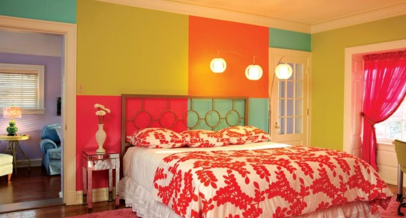 simphome colorful bedroom