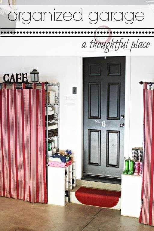 Cover your garage with curtain