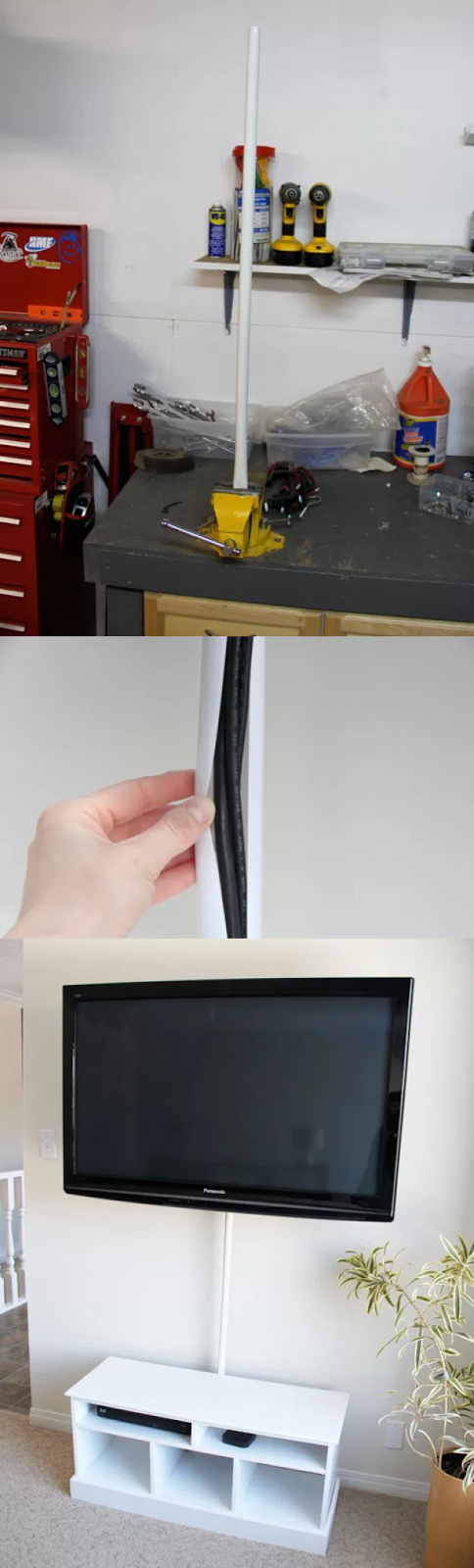 6.Tidy television wire