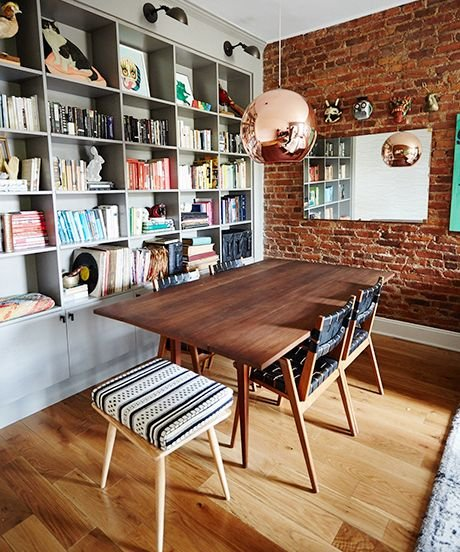 10 Minimalist reading room decorated with copper hanging lamps simphome com
