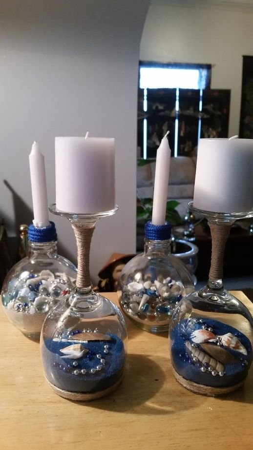 9 Beach Themed Candle Stand Simphome com