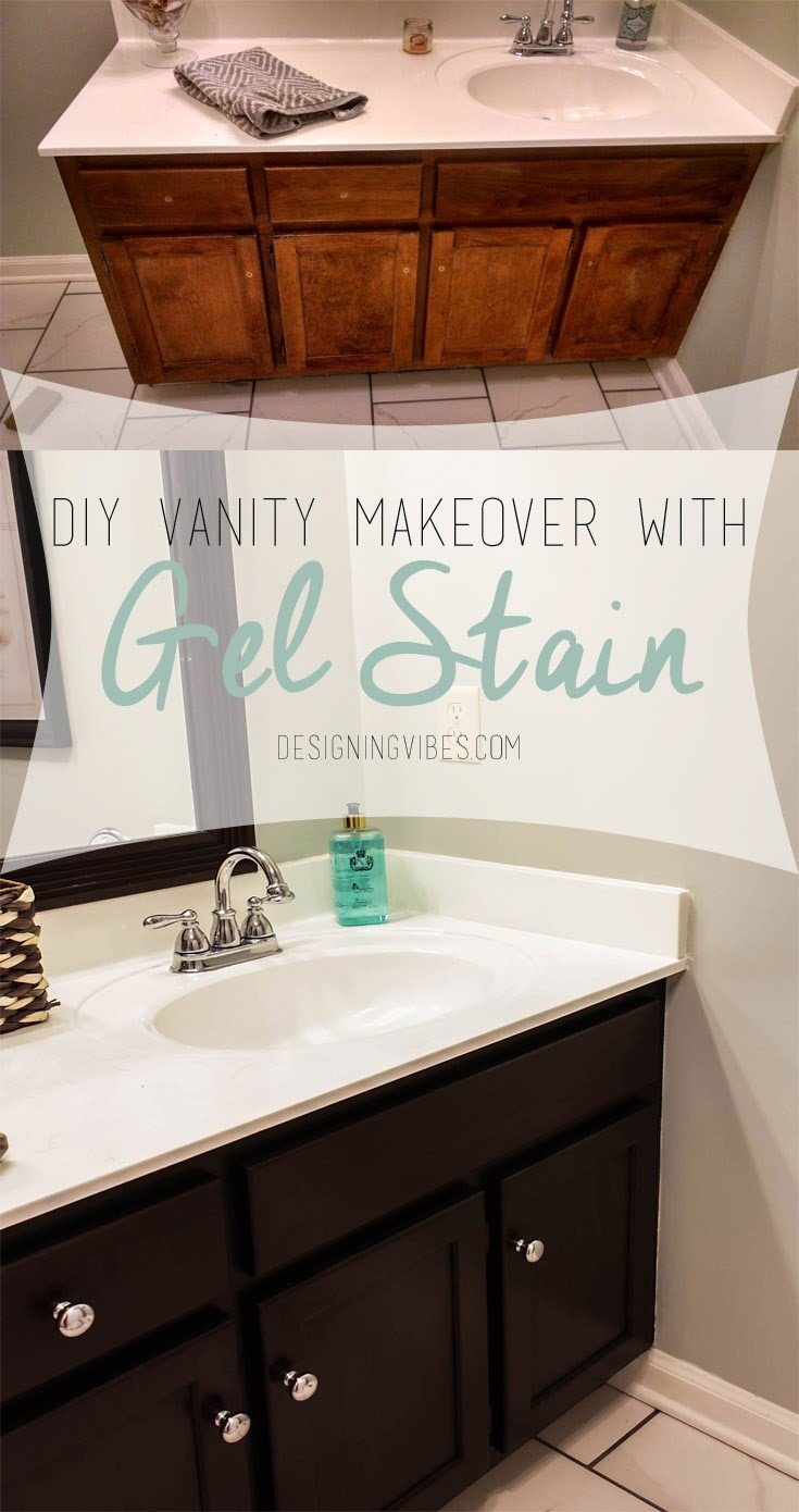 3 Transforming your Bathroom Vanity with gel stain Simphome com