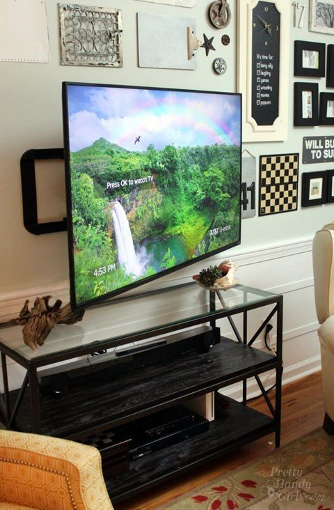 1 Wall Mounted TV with Hidden Wires Simphome com