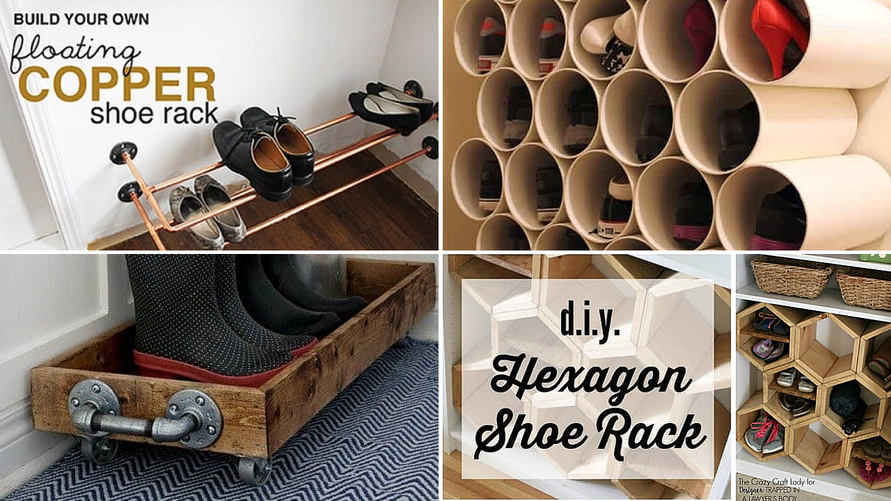 10 Creative DIY projects that will Revamp your Shoe Storage via simphome featured