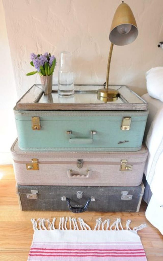 25 Suitcase Sidebed Table via simphome com