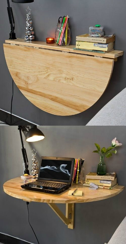 21 Wood Wall mounted Drop leaf Table Simphome