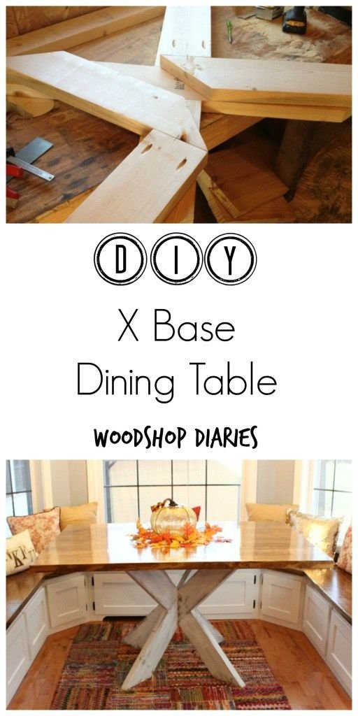 26 How to build a gorgeous X base dining table Simphome