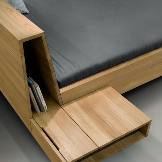 4 Floating Bed with Extra Storage Simphome 2