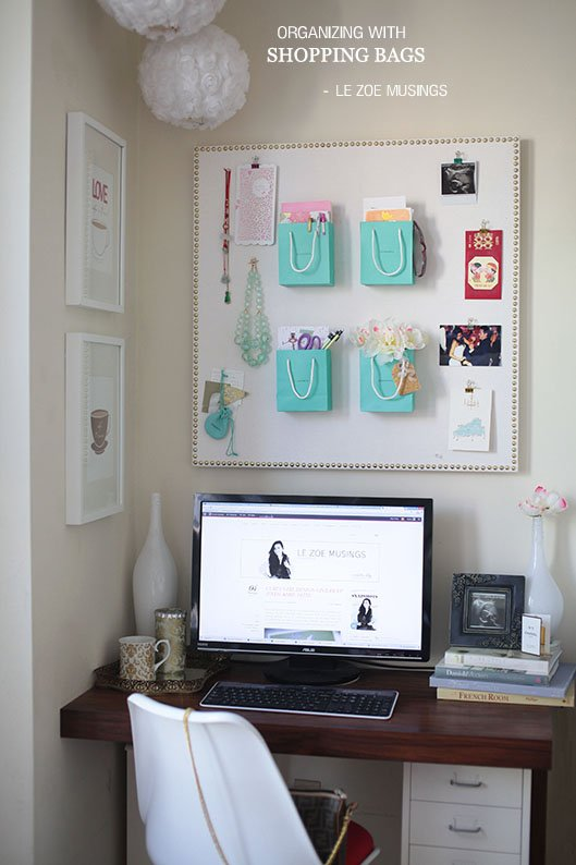 6 Organize Things with Shopping Bags Simphome