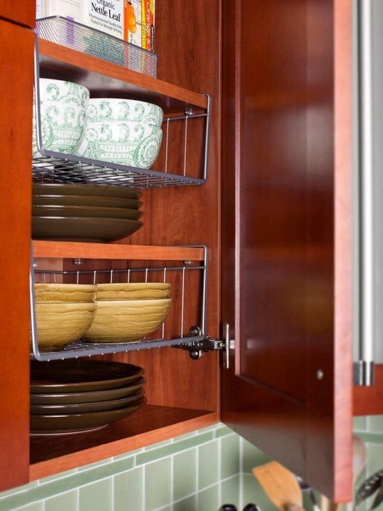 102 Clever Ways to Squeeze a Little Extra Storage Out of a Small Kitchen via Simphome 1