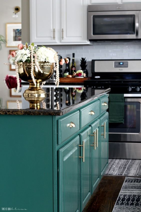 177 2 Bright and White and Bold Kitchen Revamp via simphome