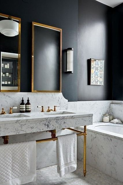 26 bathroom ideas with gold touches Simphome