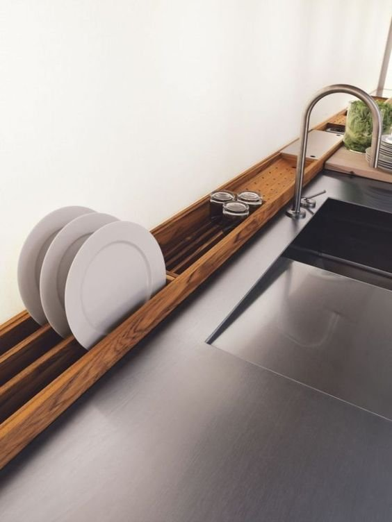298 The Ideal Kitchen it is Brilliant and Space Saving Way To Dry Dishes via simphome