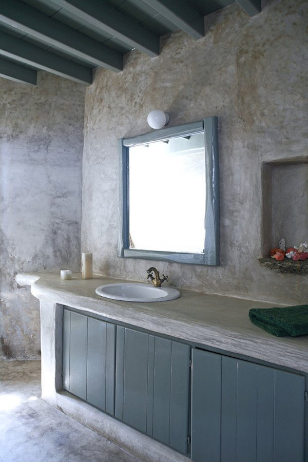 3 Rustic Bathroom with Concrete Wall Simphome