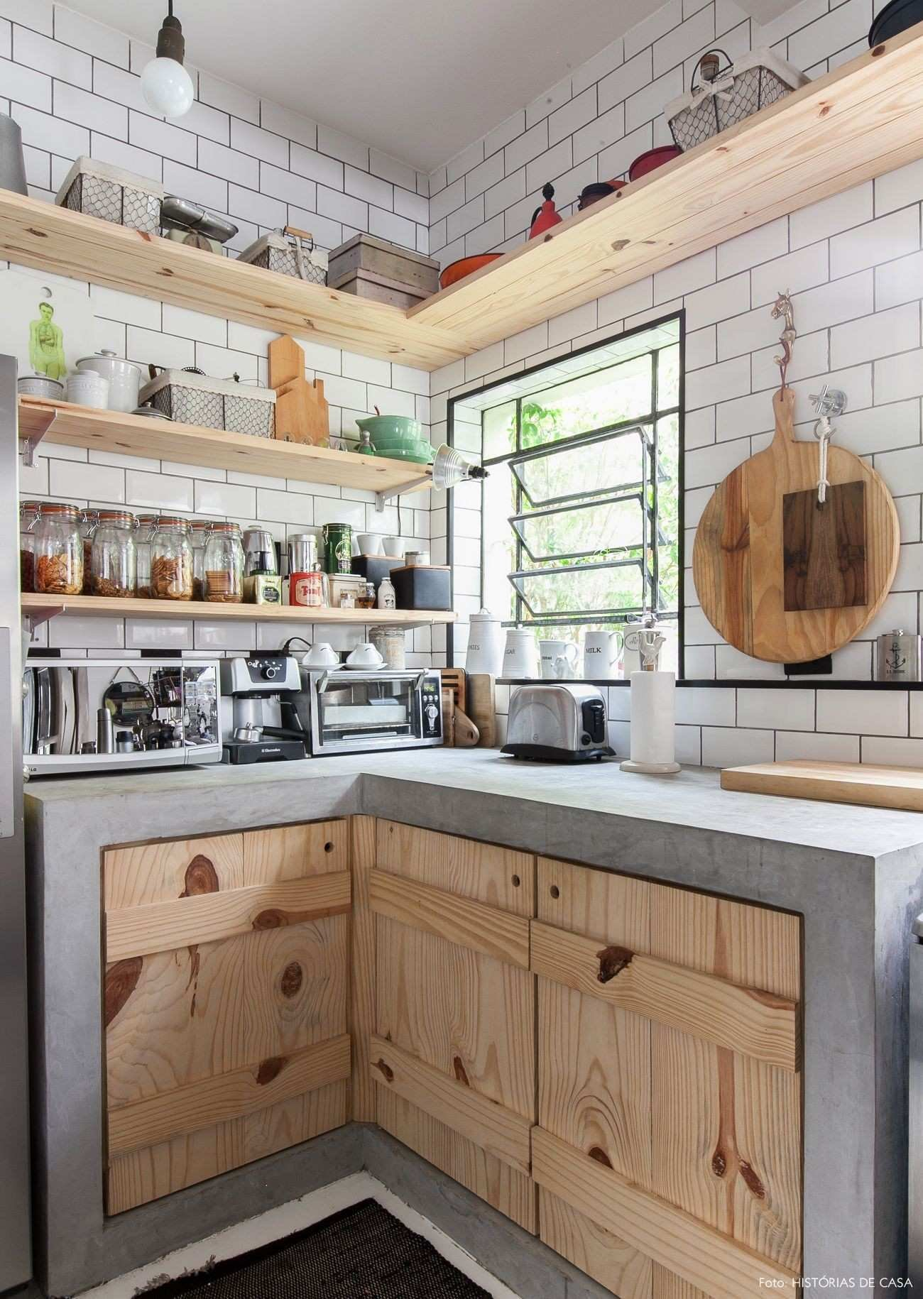 318 Another kitchen shelving system using woods and rustic plan via simphome