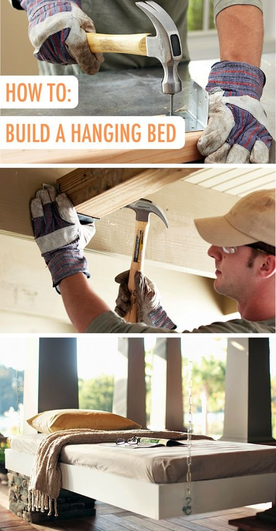 48 DIY Hanging Bed project Simphome