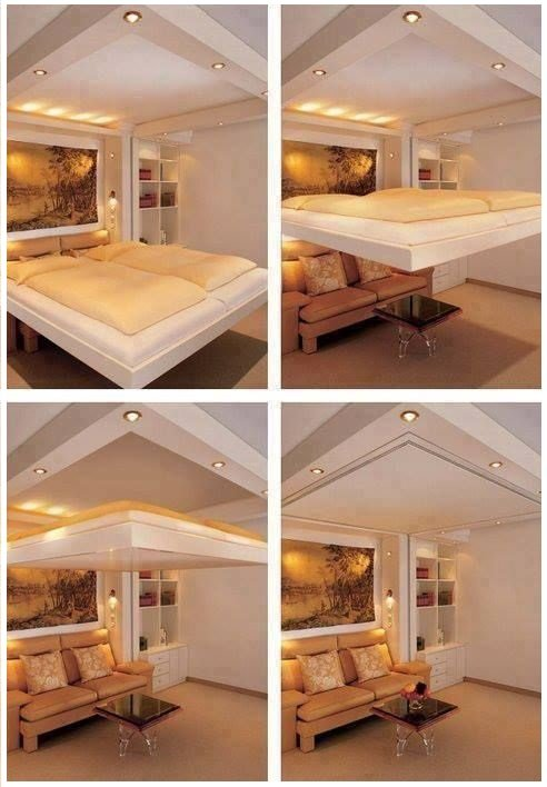 54 Transformer Furniture For The 1 Percent Amazing Cantilevered Bed Drops Down From Ceiling Simphome