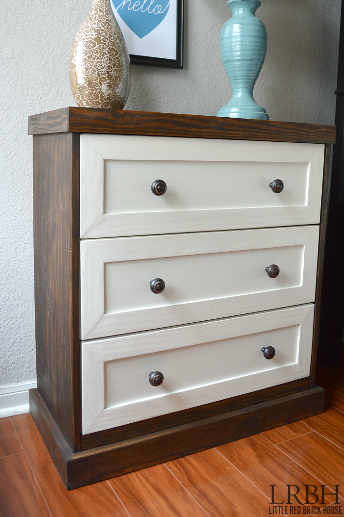 23 Two Toned IKEA Rast Dresser Hack featured at www simphome com