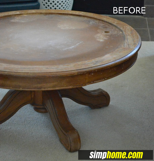How to turn Ugly Coffee Table to Marble like coffee table via simphome before