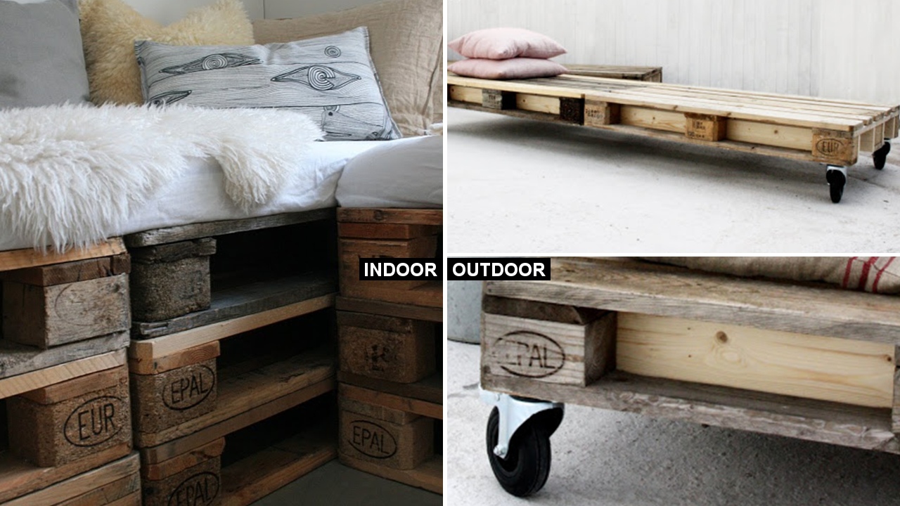 DIY How to Make Indoor Pallet sofa and Outdoor via Simphome featured