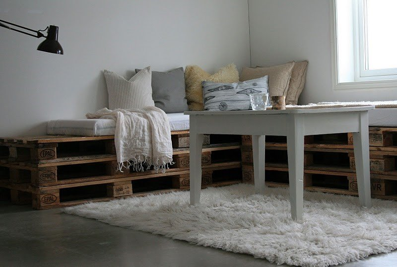DIY How to make indoor pallet sofa and outdoor via simphome 4