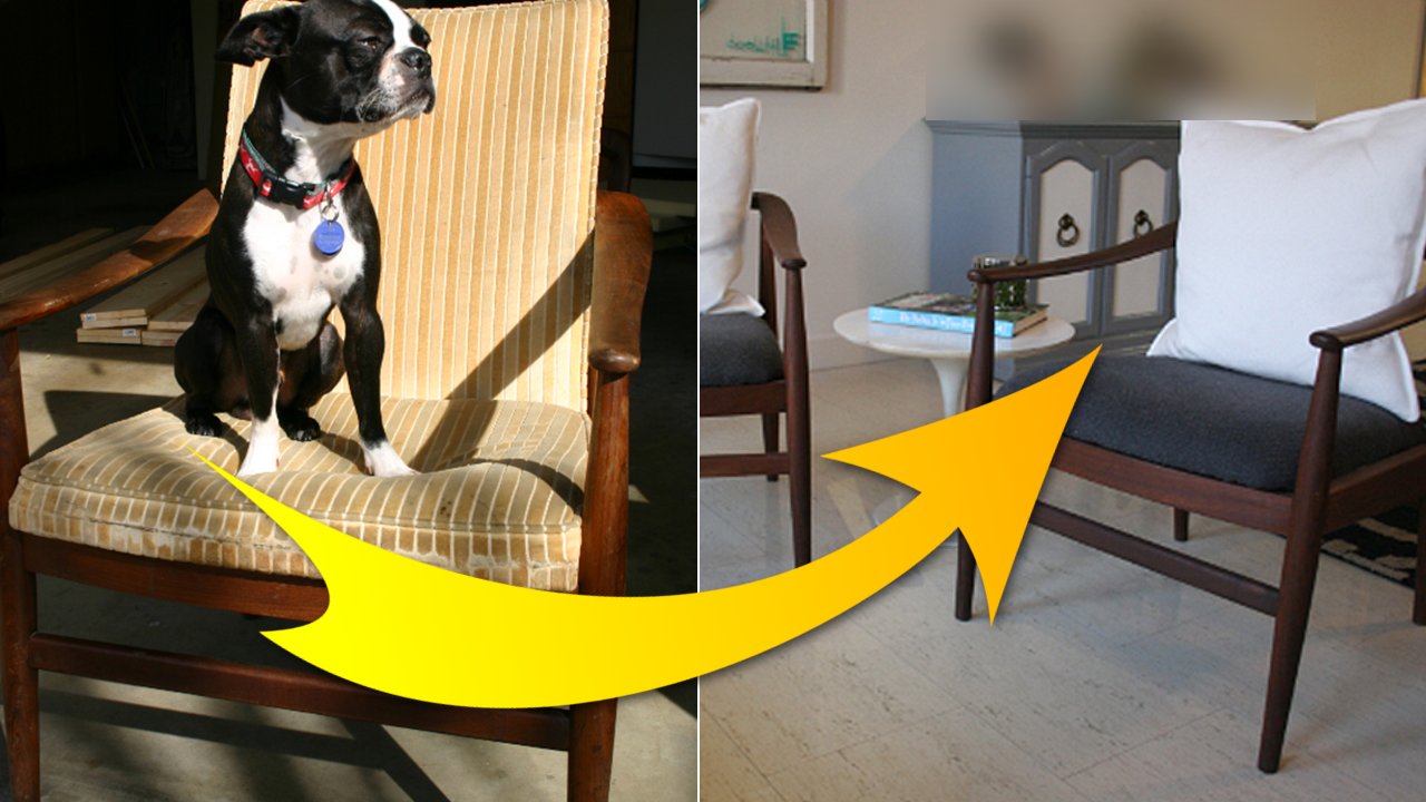 How to Makeover a mid century chair via simphome com featured image