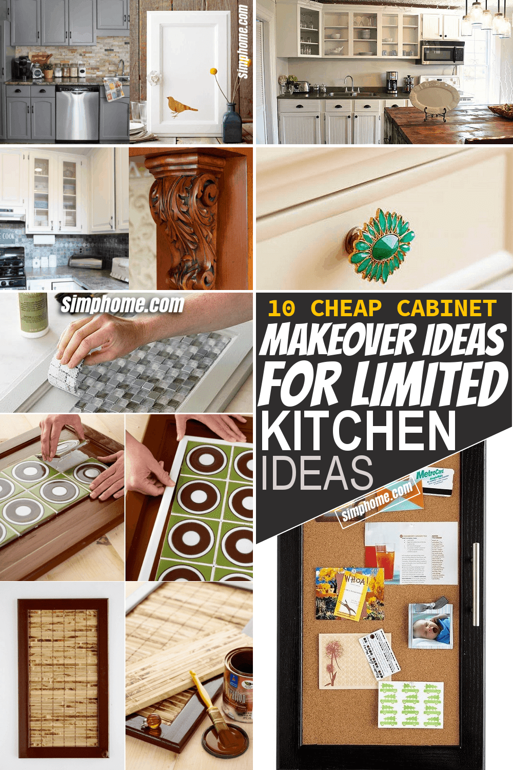 Simphome.com 10 Cheap Cabinet Makeover Ideas for Limited Kitchen Thumbnail Video