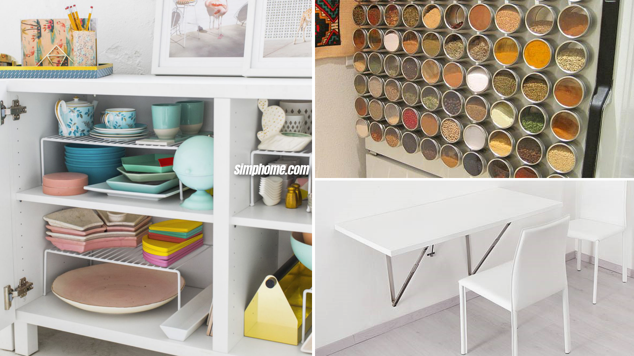 10 DIY Storage Ideas for Limited Kitchen and Dining Room via Simphome Featured