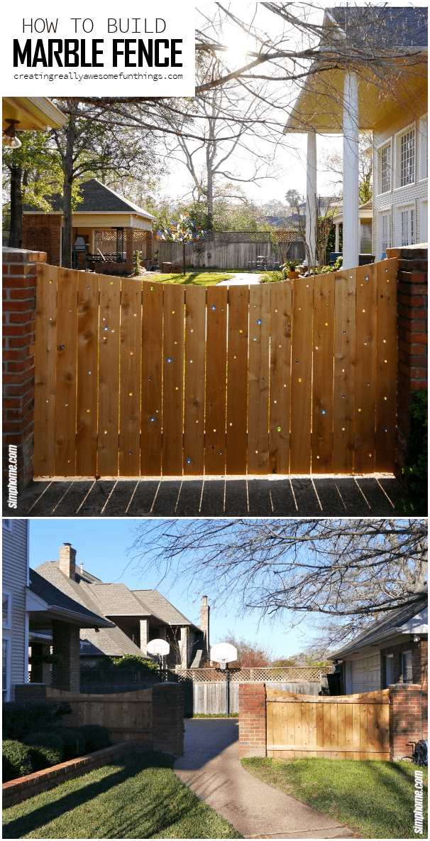 8.Wood and Marble Fence by Simphome.com