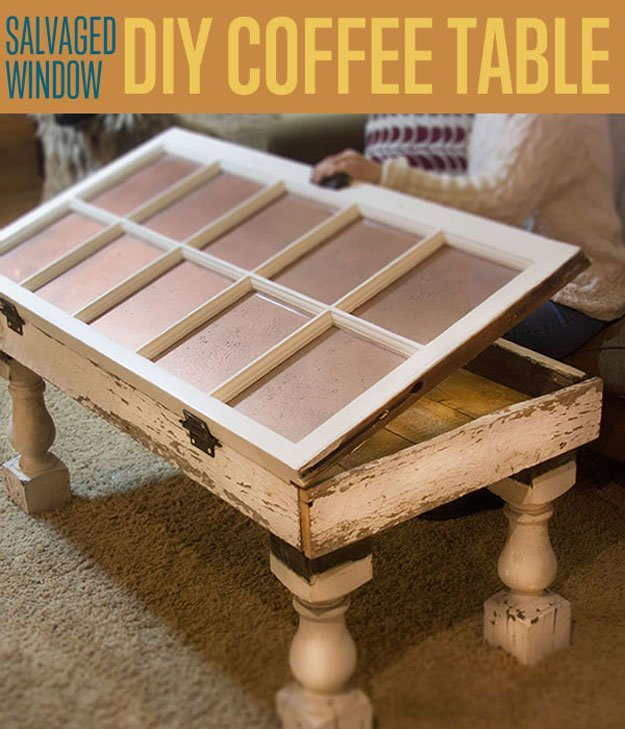 4. Coffee Table from an Old Window via Simphome