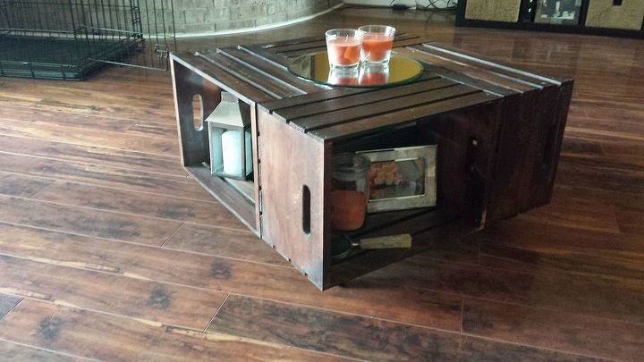 8. Wooden Crate Coffee Table via Simphome