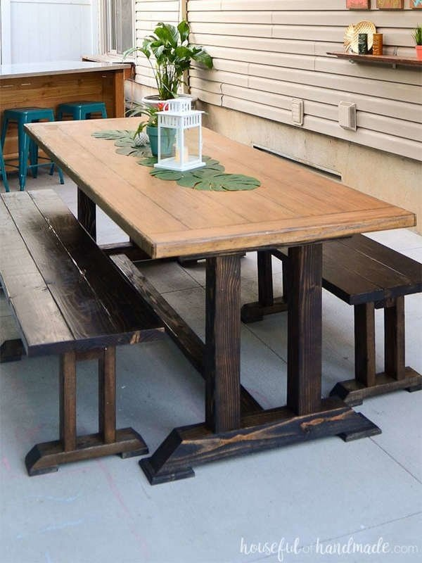 7. Outdoor Dining Table via Simphome