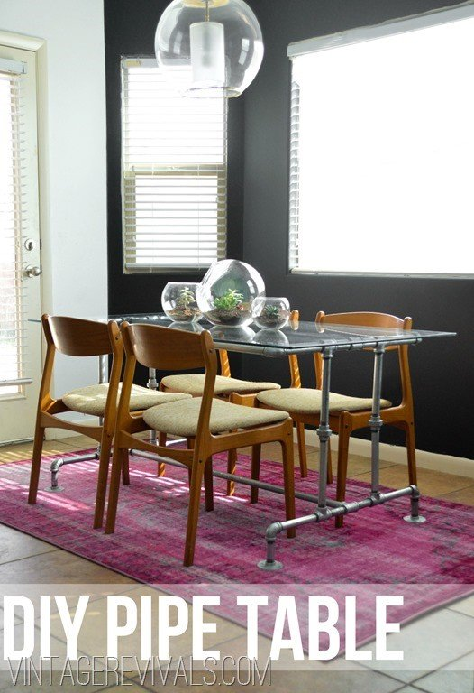 9. Pipe Dining Table via Simphome