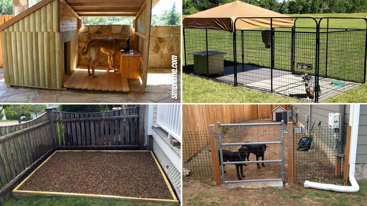 10 Clever Designs of How to Build Backyard Dog Kennel Ideas via SIMPHOME.COM Featured Image