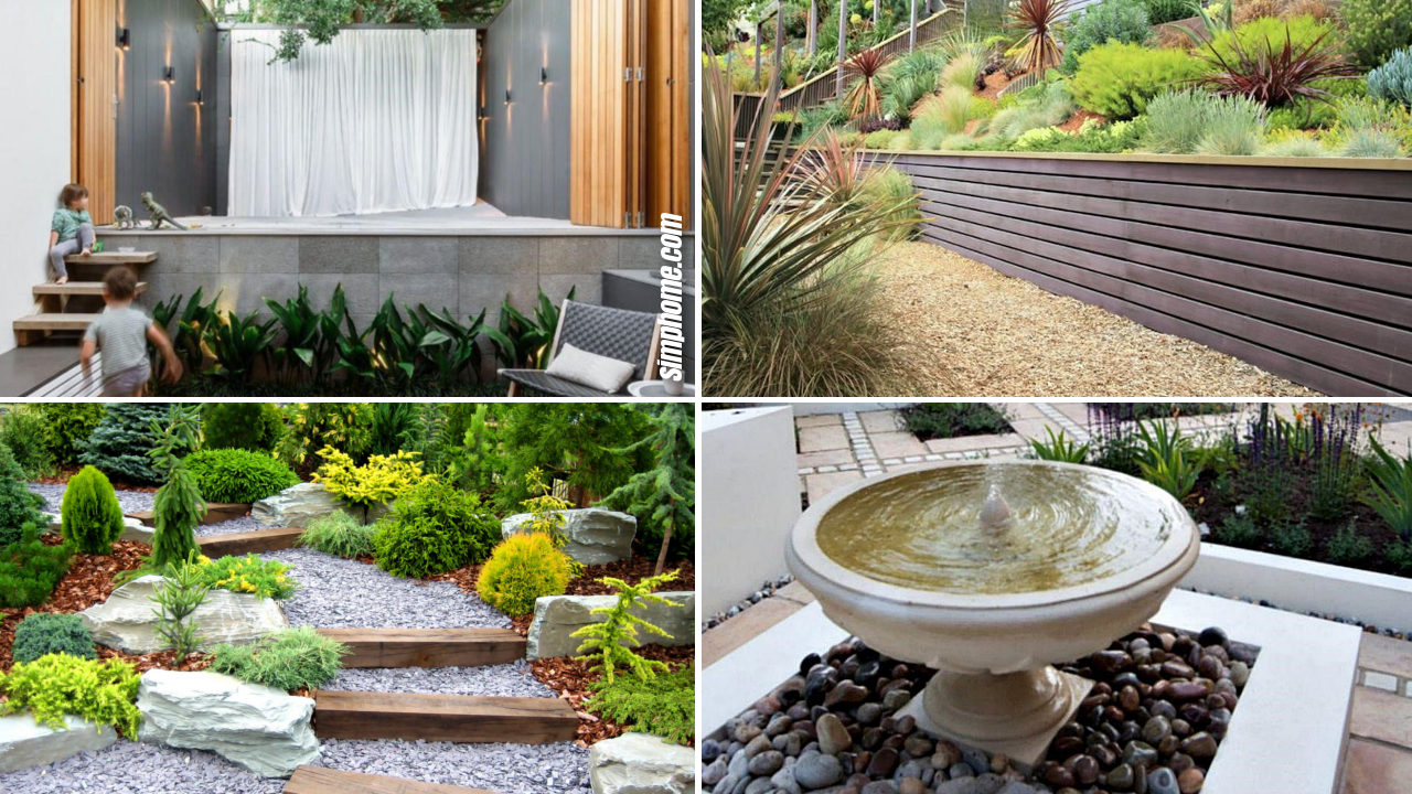 10 Clever Landscape design plans and improvement for a small backyard via Simphome.com Featured Image 1