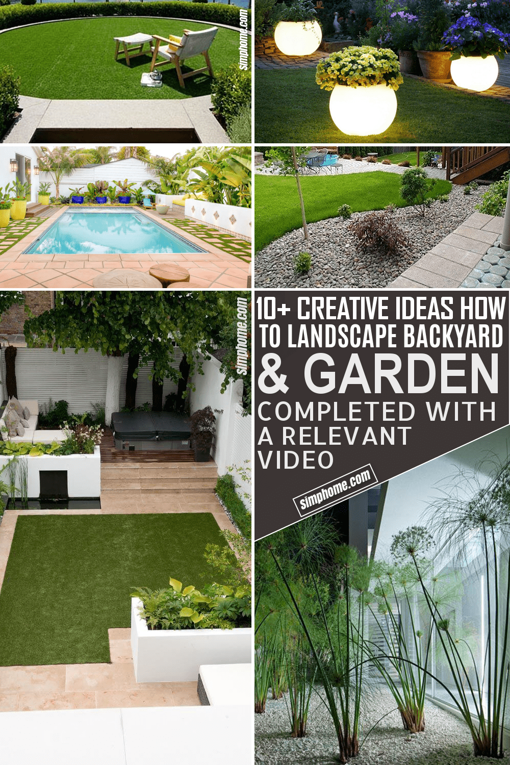 10 Ideas on How to Landscape Backyards and Gardens by Simphome.com