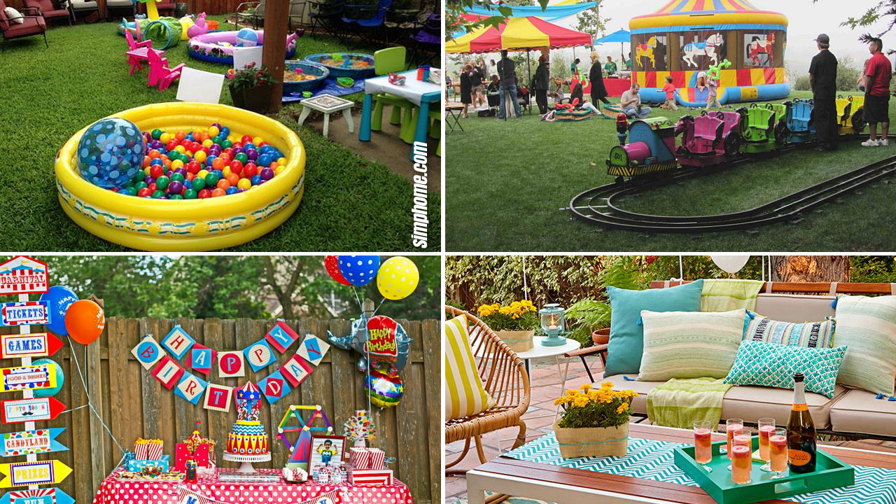 10 Ideas to Make Birthday Party in The Backyard via SIMPHOME.COM Featured Image