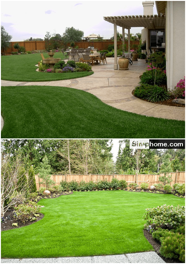 7.Large Backyard Landscaping Ideas by Simphome.com