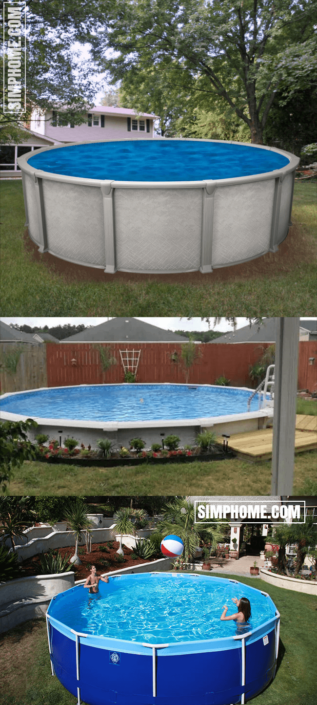 1. SIMPHOME.COM Big Rounded Above Ground Pool