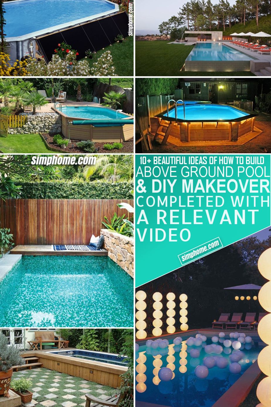 10 How to Build Above Ground Pool Backyard Ideas via Simphome Featured Pinterest