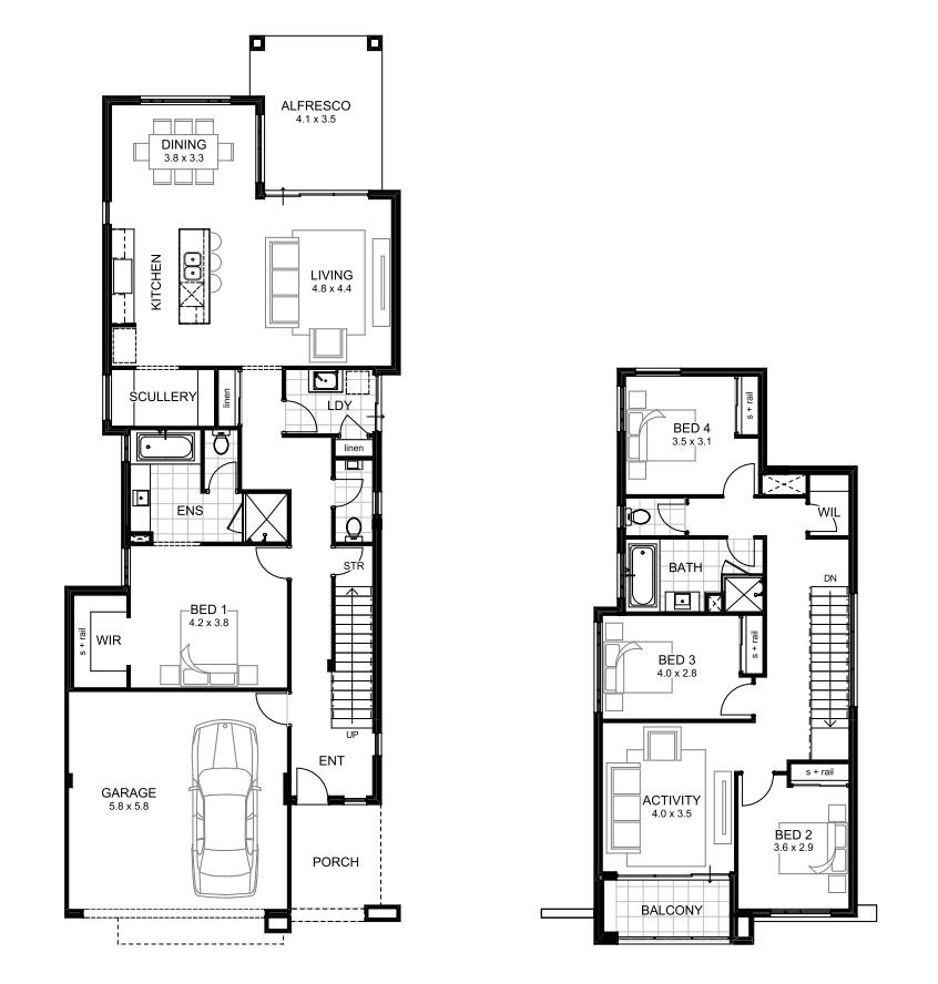 11.SIMPHOME.COM modern 2 storey house plans with double storey 4 bedroom