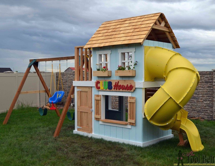 2.A Clubhouse Playhouse Project Ideas for Everyone by Simphome.com