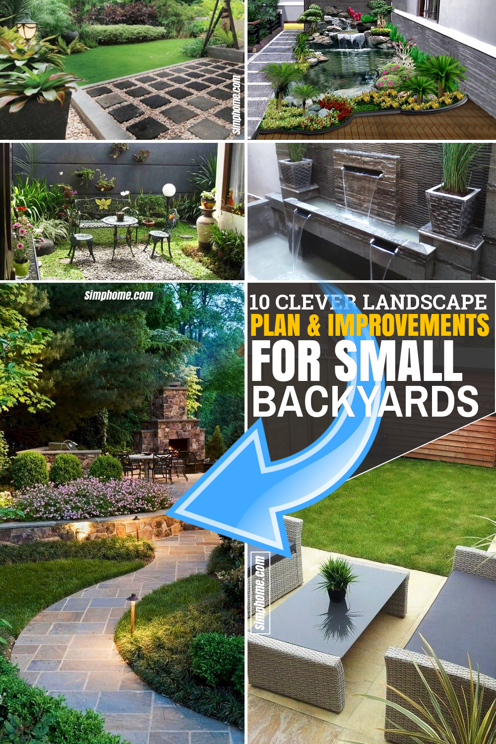 SIMPHOME.COM 10 Clever Landscape Design Plans and Improvements for a Small Backyard Featured Image