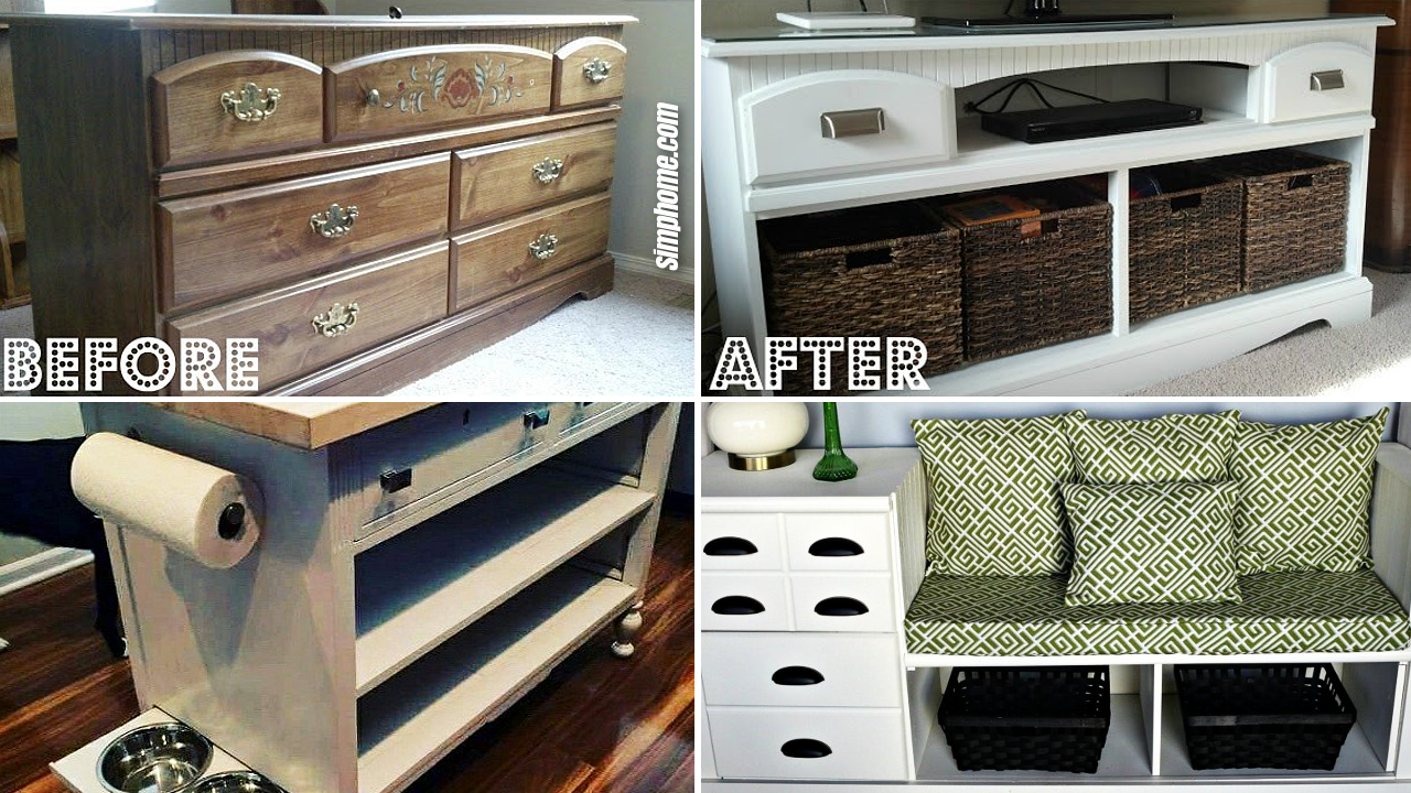 SIMPHOME.COM 10 DIY Dresser Makeover Projects Featured Image