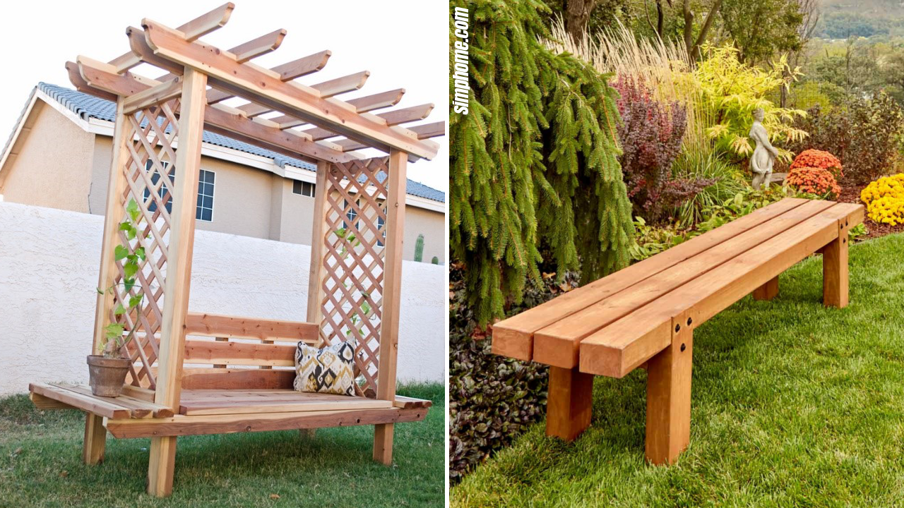 SIMPHOME.COM 10 DIY Outdoor Wood Projects Featured Image