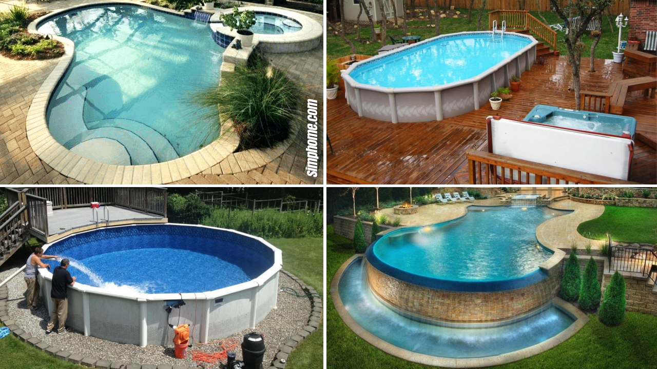 SIMPHOME.COM 10 Ideas How to Build Above Ground Pool Backyard Ideas Featured Image